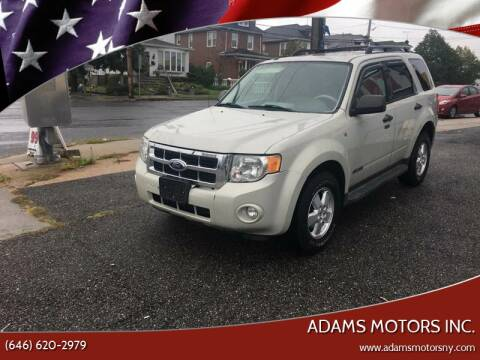 2008 Ford Escape for sale at Adams Motors INC. in Inwood NY