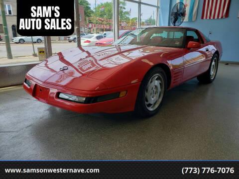 1993 Chevrolet Corvette for sale at SAM'S AUTO SALES in Chicago IL