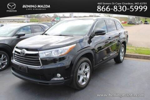 2015 Toyota Highlander for sale at Bening Mazda in Cape Girardeau MO