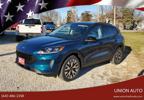 2020 Ford Escape Hybrid for sale at Union Auto in Union IA