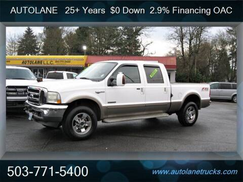 2004 Ford F-250 Super Duty for sale at Auto Lane in Portland OR