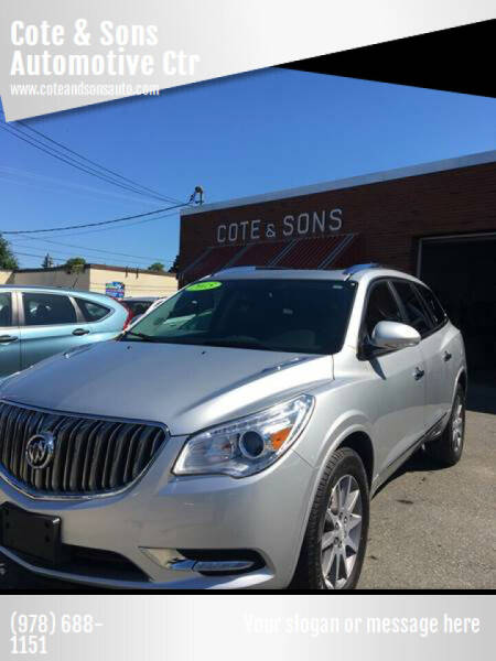 2015 Buick Enclave for sale at Cote & Sons Automotive Ctr in Lawrence MA