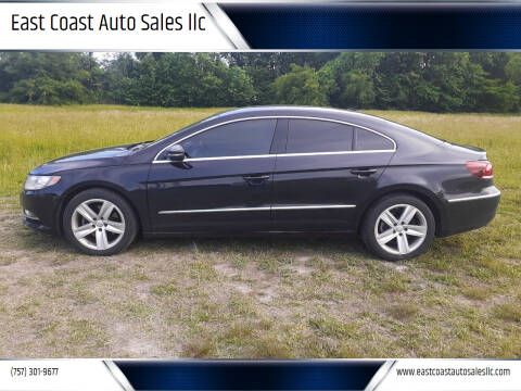 2013 Volkswagen CC for sale at East Coast Auto Sales llc in Virginia Beach VA