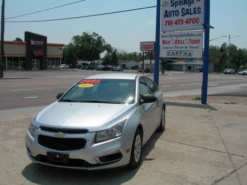 2015 Chevrolet Cruze for sale at Springs Auto Sales in Colorado Springs CO