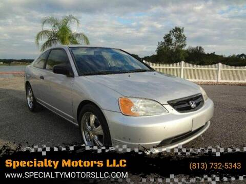 2001 Honda Civic for sale at Specialty Motors LLC in Land O Lakes FL