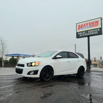 2015 Chevrolet Sonic for sale at Hayden Cars in Coeur D Alene ID