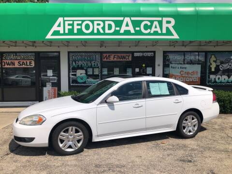 2011 Chevrolet Impala for sale at Afford-A-Car in Dayton/Newcarlisle/Springfield OH