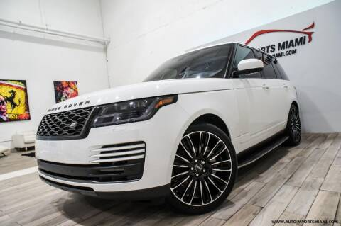 2019 Land Rover Range Rover for sale at AUTO IMPORTS MIAMI in Fort Lauderdale FL
