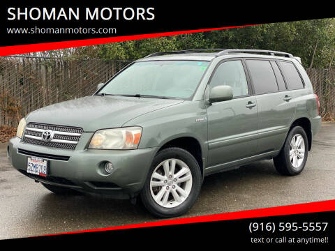 2007 Toyota Highlander Hybrid for sale at SHOMAN AUTO GROUP in Davis CA
