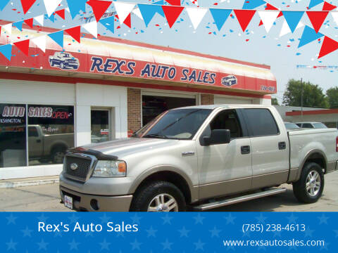 2006 Ford F-150 for sale at Rex's Auto Sales in Junction City KS
