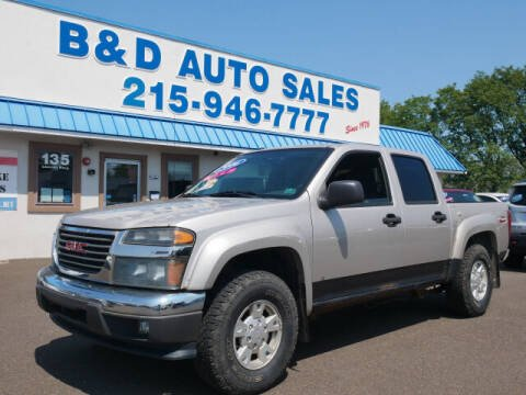2006 GMC Canyon for sale at B & D Auto Sales Inc. in Fairless Hills PA