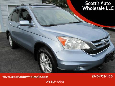 2010 Honda CR-V for sale at Scott's Auto Wholesale LLC in Locust Grove VA