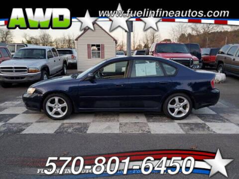 2006 Subaru Legacy for sale at FUELIN FINE AUTO SALES INC in Saylorsburg PA