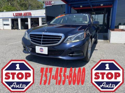 2014 Mercedes-Benz E-Class for sale at 1 Stop Auto in Norfolk VA