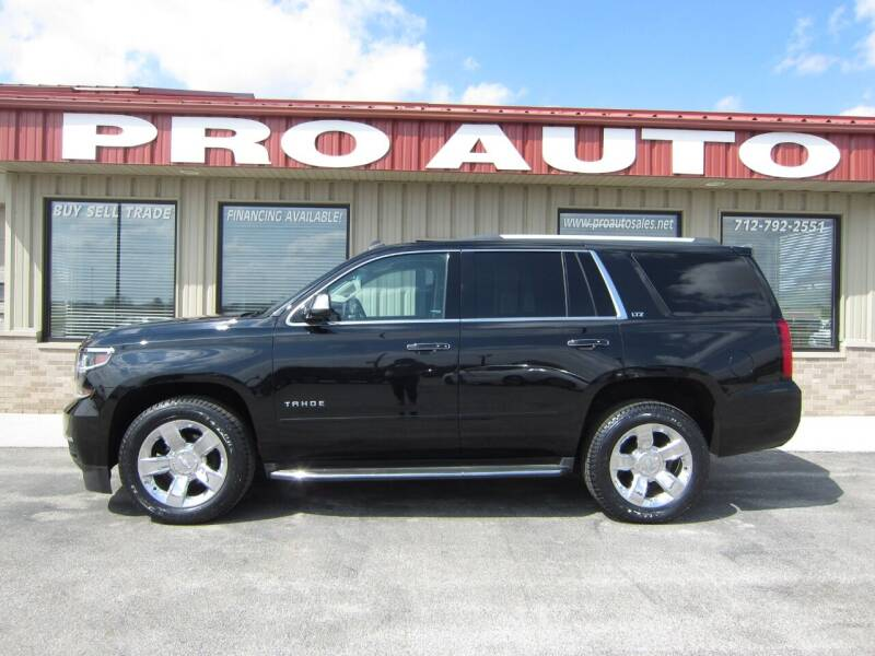 2015 Chevrolet Tahoe for sale at Pro Auto Sales in Carroll IA