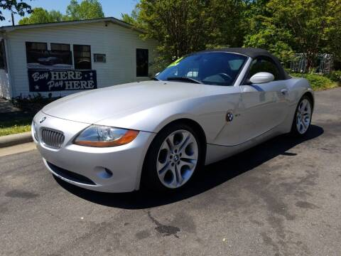 2004 BMW Z4 for sale at TR MOTORS in Gastonia NC