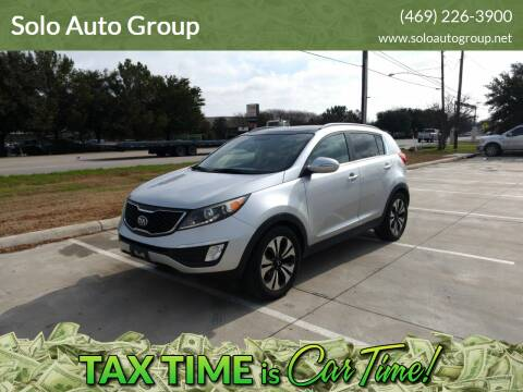 2013 Kia Sportage for sale at Solo Auto Group in Mckinney TX