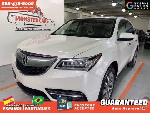 2015 Acura MDX for sale at Monster Cars in Pompano Beach FL