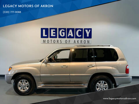 2000 Lexus LX 470 for sale at LEGACY MOTORS OF AKRON in Akron OH