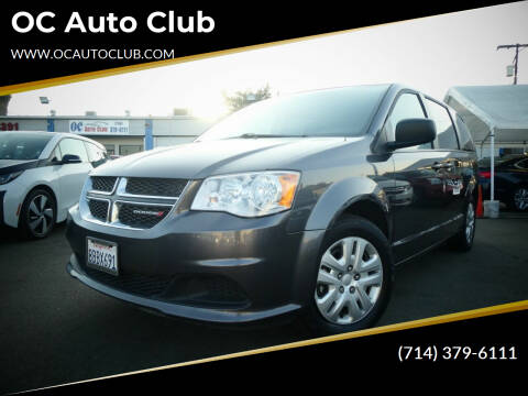 2018 Dodge Grand Caravan for sale at OC Auto Club in Midway City CA