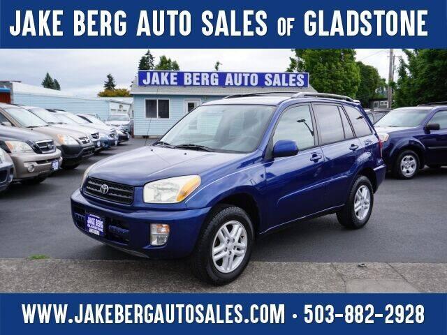 2002 Toyota RAV4 for sale at Jake Berg Auto Sales in Gladstone OR