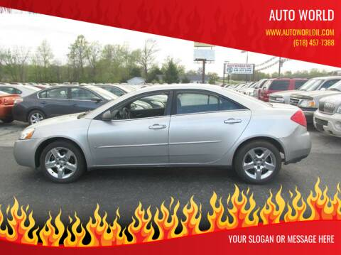 2008 Pontiac G6 for sale at Auto World in Carbondale IL