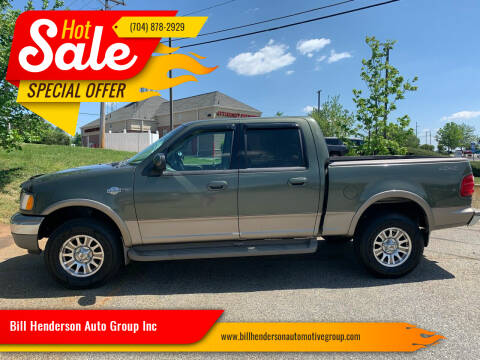 2002 Ford F-150 for sale at Bill Henderson Auto Group Inc in Statesville NC