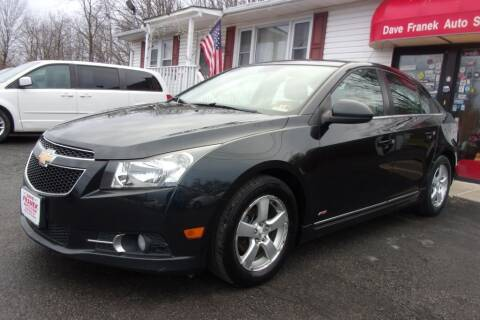 2013 Chevrolet Cruze for sale at Dave Franek Automotive in Wantage NJ