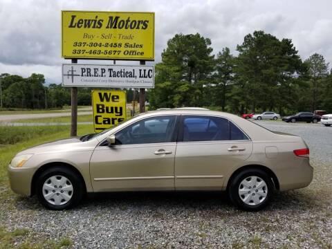 2004 Honda Accord for sale at Lewis Motors LLC in Deridder LA
