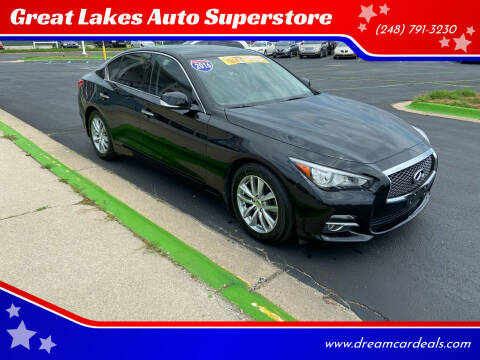 2016 Infiniti Q50 for sale at Great Lakes Auto Superstore in Waterford Township MI