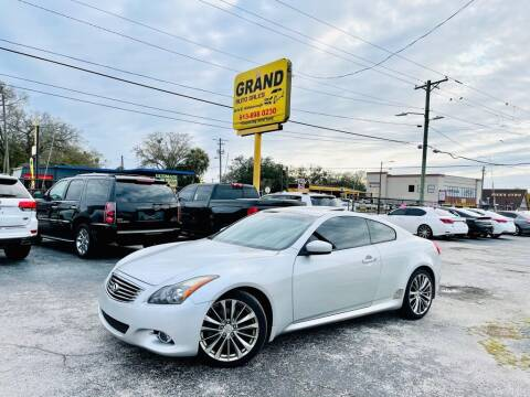 2013 Infiniti G37 Coupe for sale at Grand Auto Sales in Tampa FL