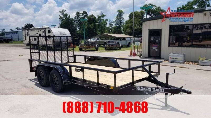 """2021 STAGECOACH 77"""" X 14' Tandem Axle  for sale at Park and Sell - Trailers in Conroe TX"""