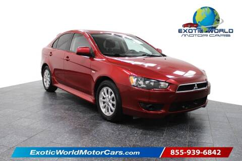 2013 Mitsubishi Lancer Sportback for sale at Exotic World Motor Cars in Addison TX