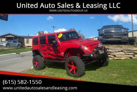 2011 Jeep Wrangler Unlimited for sale at United Auto Sales & Leasing LLC in La Vergne TN