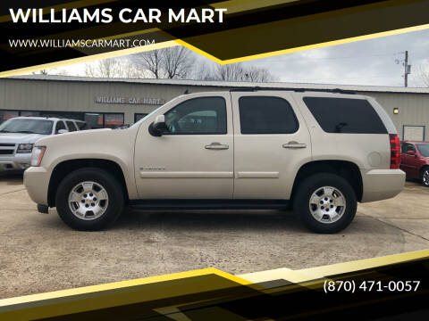 2007 Chevrolet Tahoe for sale at WILLIAMS CAR MART in Gassville AR