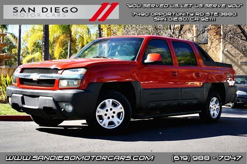 2002 Chevrolet Avalanche for sale at San Diego Motor Cars LLC in San Diego CA