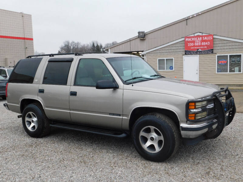 1999 Chevrolet Tahoe for sale at Macrocar Sales Inc in Akron OH
