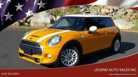 2016 MINI Hardtop 2 Door for sale at Legend Auto Sales Inc in Lemon Grove CA