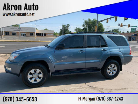 2005 Toyota 4Runner for sale at Akron Auto - Fort Morgan in Fort Morgan CO