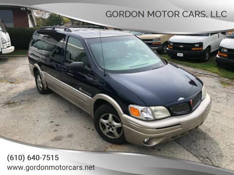2002 Pontiac Montana for sale at Gordon Motor Cars, LLC in Frazer PA
