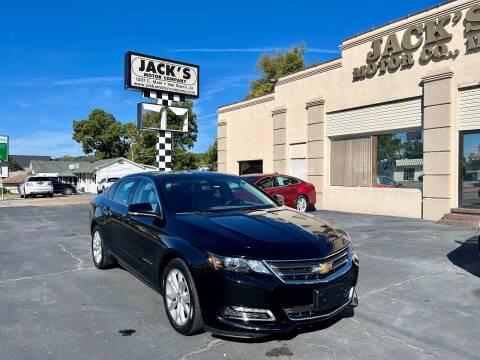 2018 Chevrolet Impala for sale at JACK'S MOTOR COMPANY in Van Buren AR
