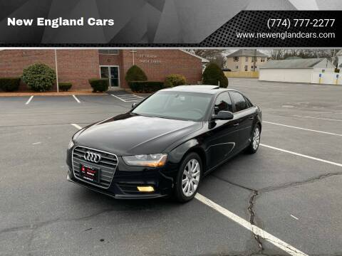 2013 Audi A4 for sale at New England Cars in Attleboro MA