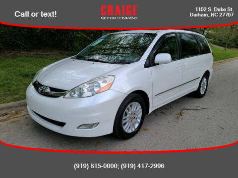 2008 Toyota Sienna for sale at CRAIGE MOTOR CO in Durham NC