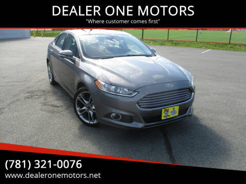 2014 Ford Fusion for sale at DEALER ONE MOTORS in Malden MA
