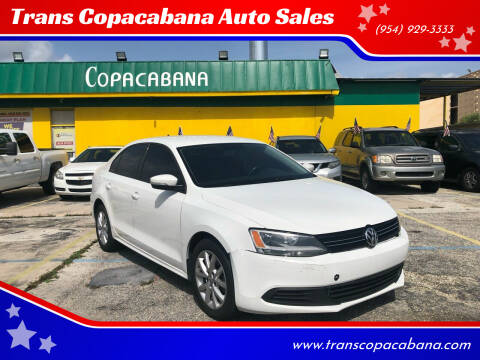 2012 Volkswagen Jetta for sale at Trans Copacabana Auto Sales in Hollywood FL