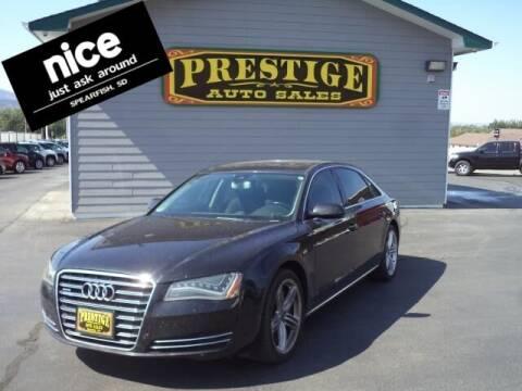 2012 Audi A8 L for sale at PRESTIGE AUTO SALES in Spearfish SD