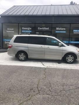 2007 Honda Odyssey for sale at Georgia Certified Motors in Stockbridge GA