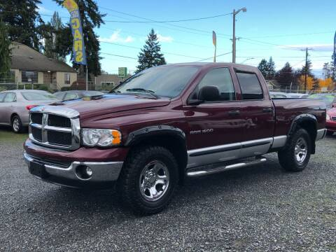 2003 Dodge Ram Pickup 1500 for sale at A & V AUTO SALES LLC in Marysville WA