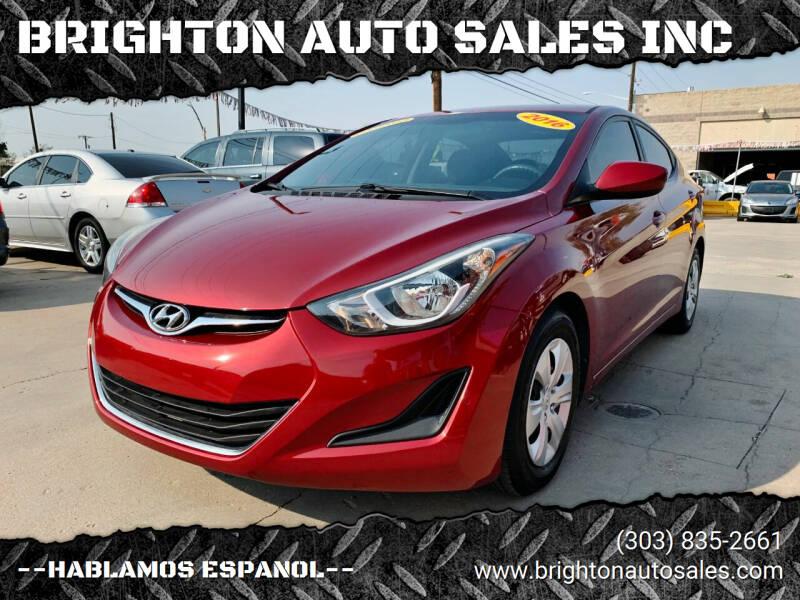 2016 Hyundai Elantra for sale at BRIGHTON AUTO SALES INC in Brighton CO