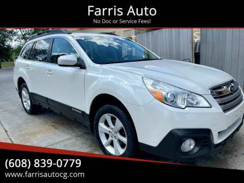 2014 Subaru Outback for sale at Farris Auto - Main Street in Stoughton WI